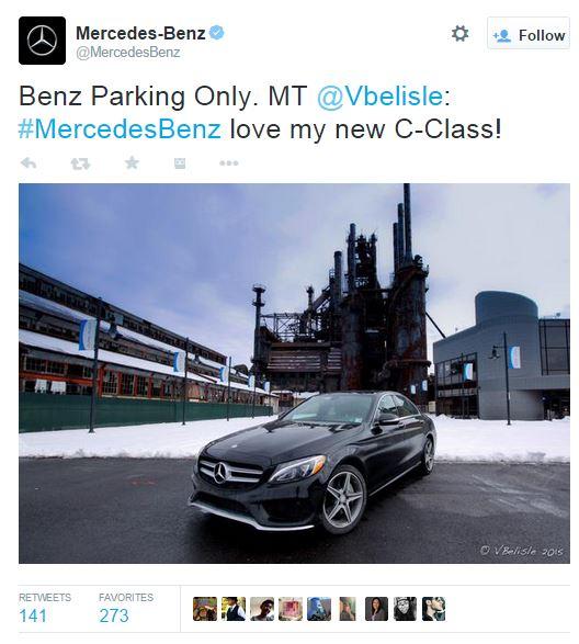 Mercedes Twitter snapshot
