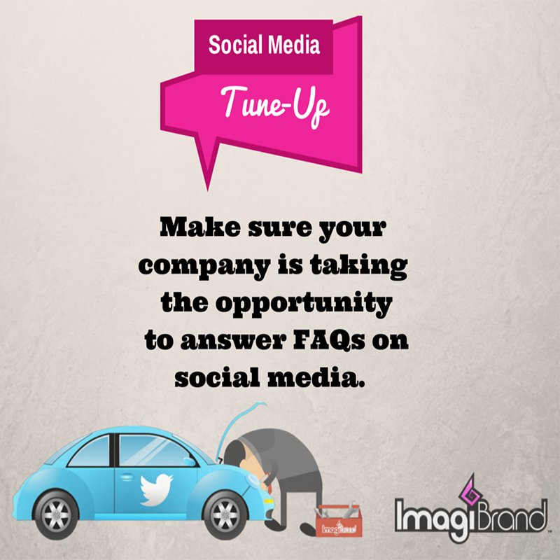 answer FAQs on social media